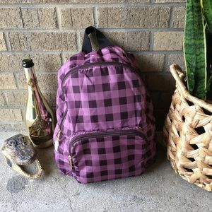 NWT Coach Packable Backpack Gingham F39648 Primros
